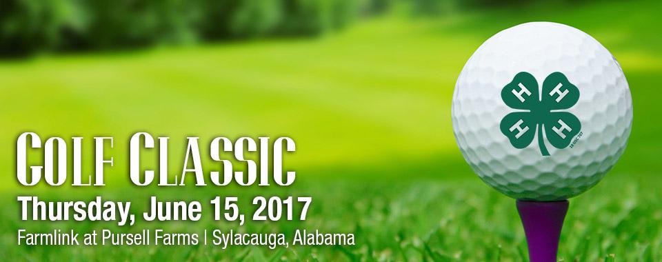 Golf ball on tee, Alabama 4-H Golf Classic, Thursday, June 15, 2017. Farmlink at Pursell Farms. Sylacauga, Alabama