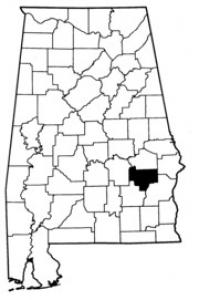 Map of Bullock County