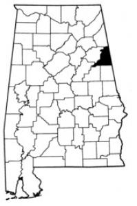 Map of Cleburne County
