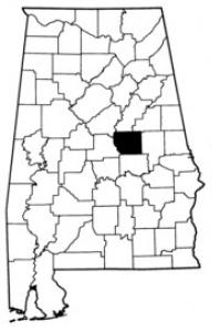 Map of Coosa County