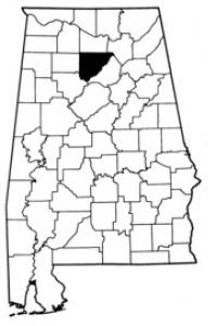Map of Cullman County