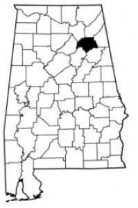 Map of Etowah County