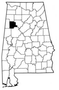 Map of Fayette County