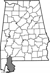 Map of Baldwin County