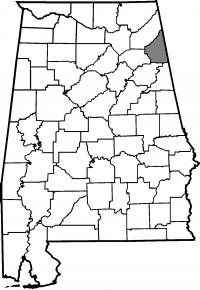 Map of Cherokee County Ext Office