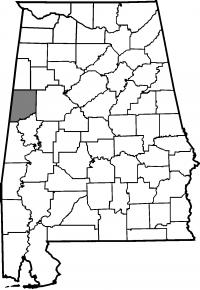 Map of Pickens County