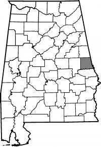 Map of Chambers County