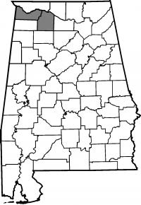Map of Lawrence County