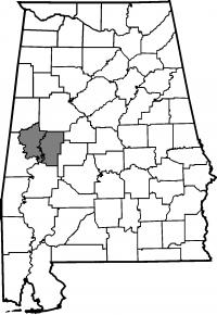 Map of Hale County