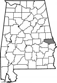 Map of Lee County