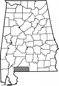 Map of Escambia County