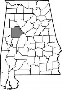Map of Tuscaloosa County