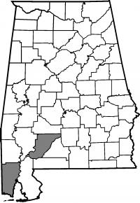Map of Mobile County