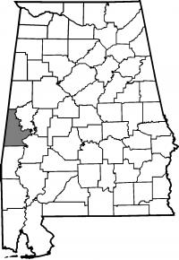 Map of Sumter County