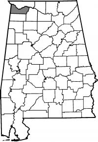 Map of Colbert County