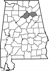 Map of Blount County