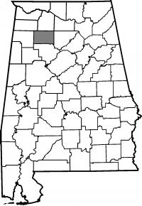 Map of Winston County