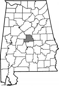 Map of Chilton County