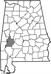 Map of Marengo County