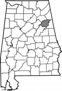 Map of Calhoun County