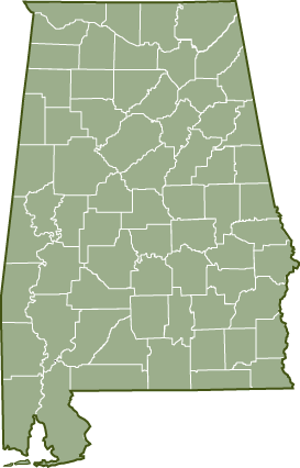 Alabama County Map